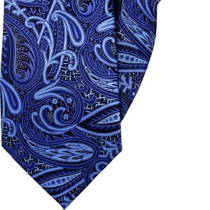 Blue Paisley Clip On Tie (JH-1005)