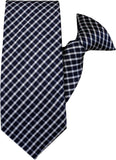 Navy and White Clip On Tie (JH-1007) John Henry - Meechs
