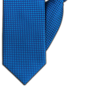 Blue Squares Clip On Tie (JH-1112)