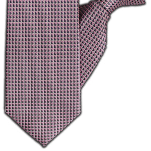 Pink & Grey Squares Clip On Tie (JH-1114)