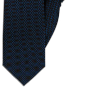 Black with Blue Ovals Clip On Tie (JH-1119)