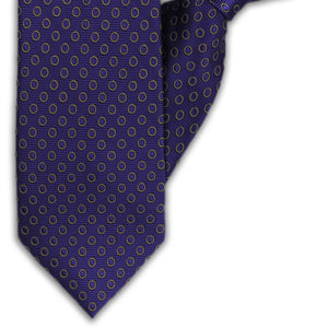 Purple with Gold Circles Clip On Tie (JH-1123)
