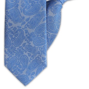 Blue Paisley Clip On Tie (JH-1130)