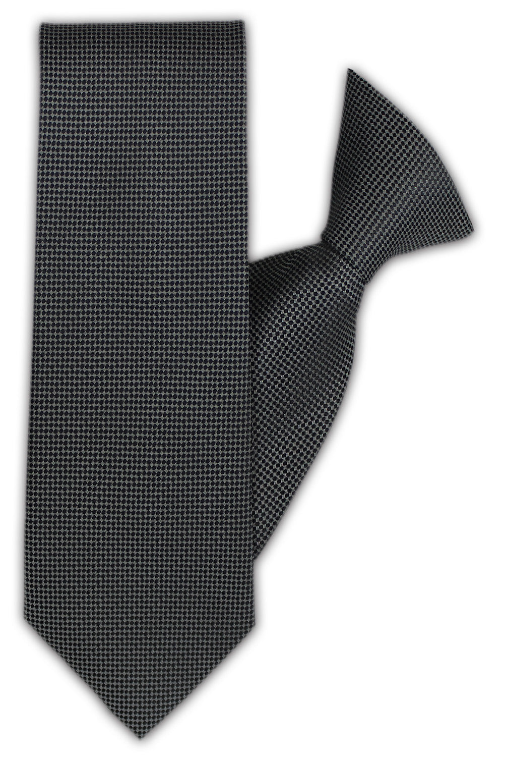 b8eb9f3f894d Grey with Small Navy Spot Clip On Tie (JH-1132)