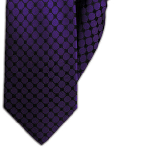 Purple with Black Chain Link Design Clip On Tie (JH-1141)