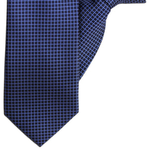 Navy and Blue Squares Clip On Tie (JH-1142)
