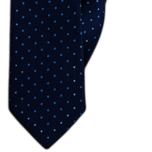 Navy with Blue Spot Clip On Tie (JH-1150)
