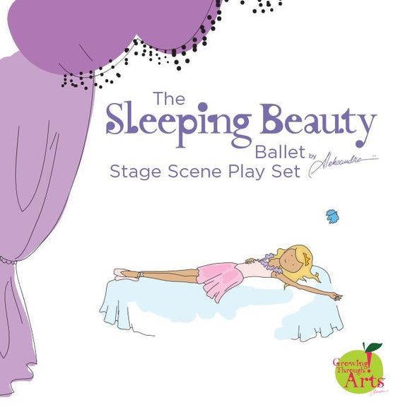Sleeping Beauty Ballet Stage Scene Playset