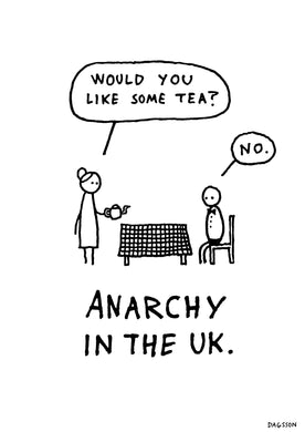 Anarchy in the UK - poster white
