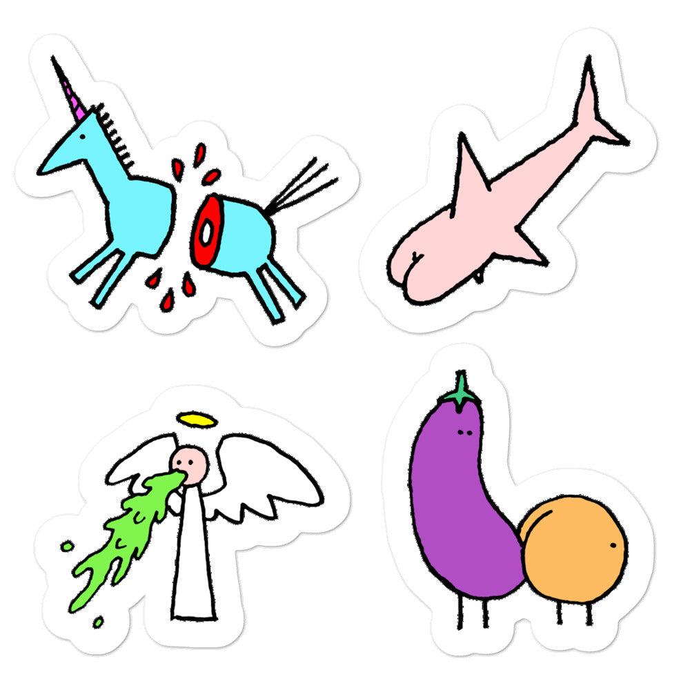 Cutesy stickers