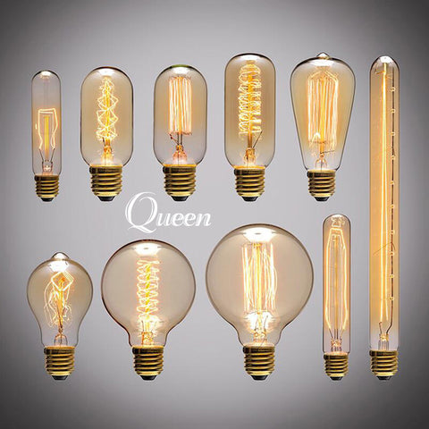 Vintage Retro Edison Lightbulbs + socket & wire.