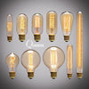 Image of Vintage Retro Edison Lightbulbs + socket & wire.