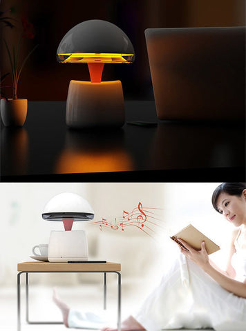 Wireless Bluetooth Speaker with Night Light Alarm Clock Function Support TF Card USB Input