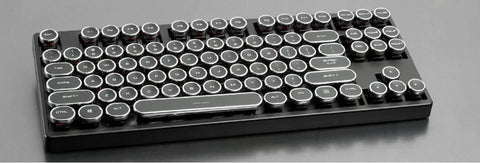 Typewriter ABS Keycap Set 108 87 For MX Switches Mechanical Keyboard