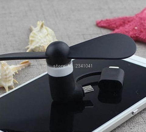 Cell Phone Mini Electric Fan For iPhone and Android