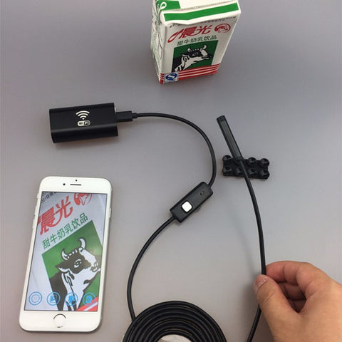 Wifi Endoscope with 8mm Lens 6 LED Waterproof Camera