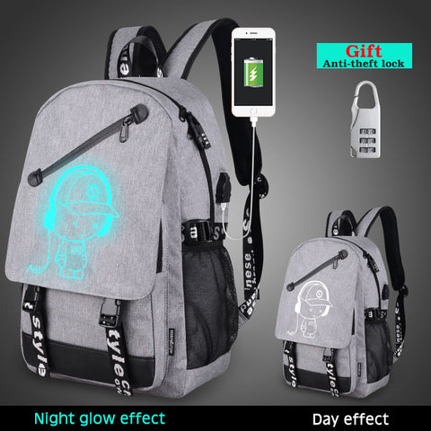 Built in USB Charger Schoolbag