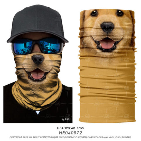 Funky 3D Animal Face Mask/Neck Warmer
