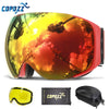Image of Magnetic Ski Goggles with Quick-Change Lens and Case Set