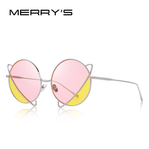 MERRY'S 90's Pastel Planet Metal Sunglasses
