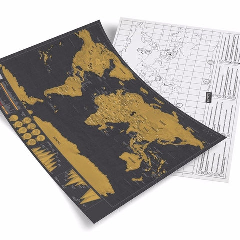 Scratch Off Personalized Journal Map
