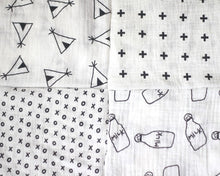 Modern swaddle bundle pattern close-ups
