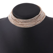 Multi Layer Crystals Choker