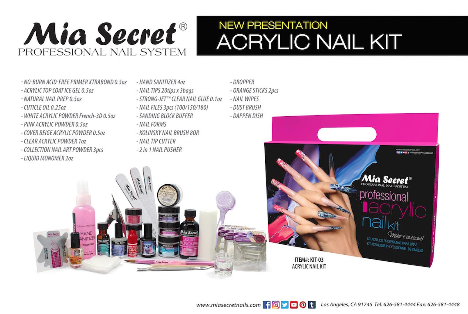 MIA SECRET PROFESSIONAL ACRYLIC NAIL KIT – TRENDZCOLORS