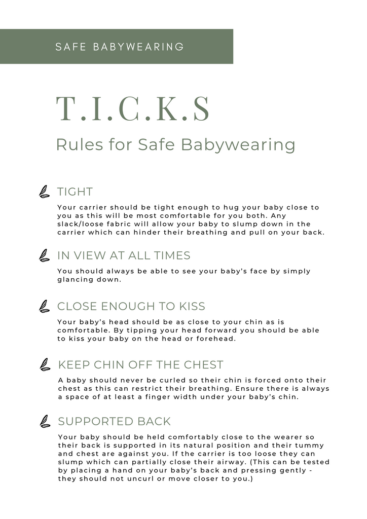 TICKS SAFE BABYWEARING