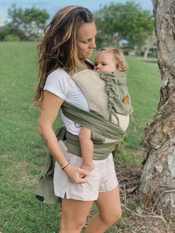 eucalyptus baby carrier green khaki