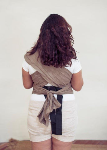 Linen Wrap Baby Carrier - Earth