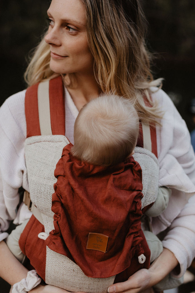 Burnt Sienna Snap Baby Carrier