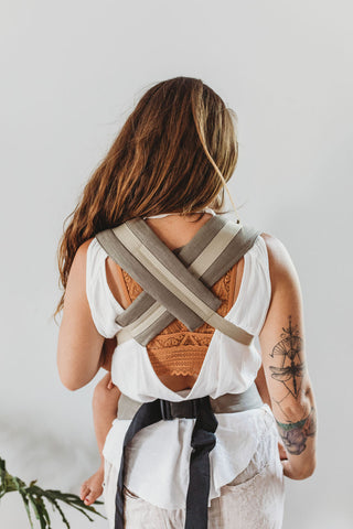 Linen Snap Baby Carrier - Earth