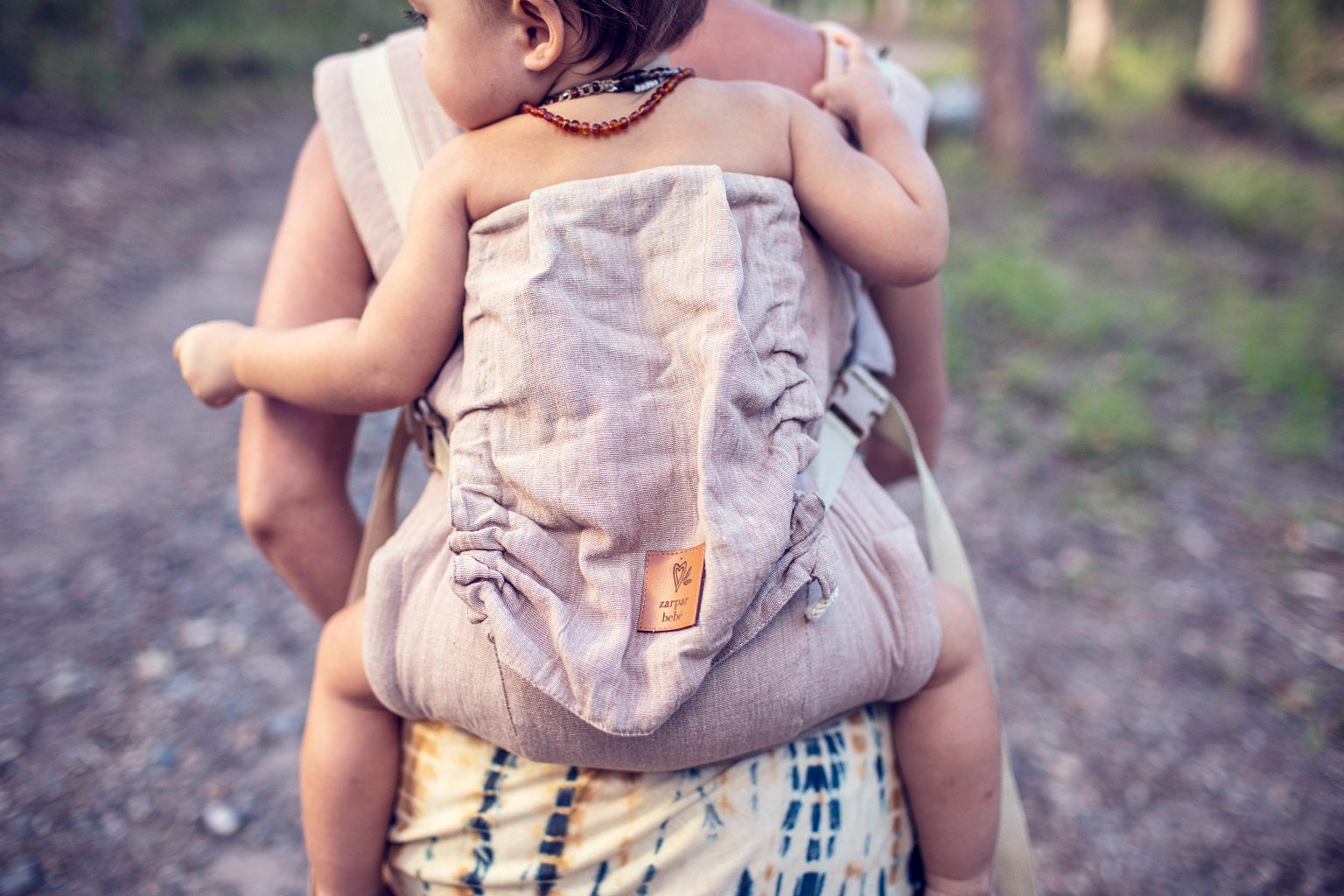 Organic Hemp Snap Baby Carrier - Fawn