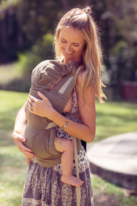 Organic Hemp Snap Baby Carrier - Olive
