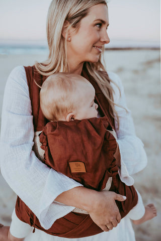 Burnt Sienna Wrap Baby Carrier