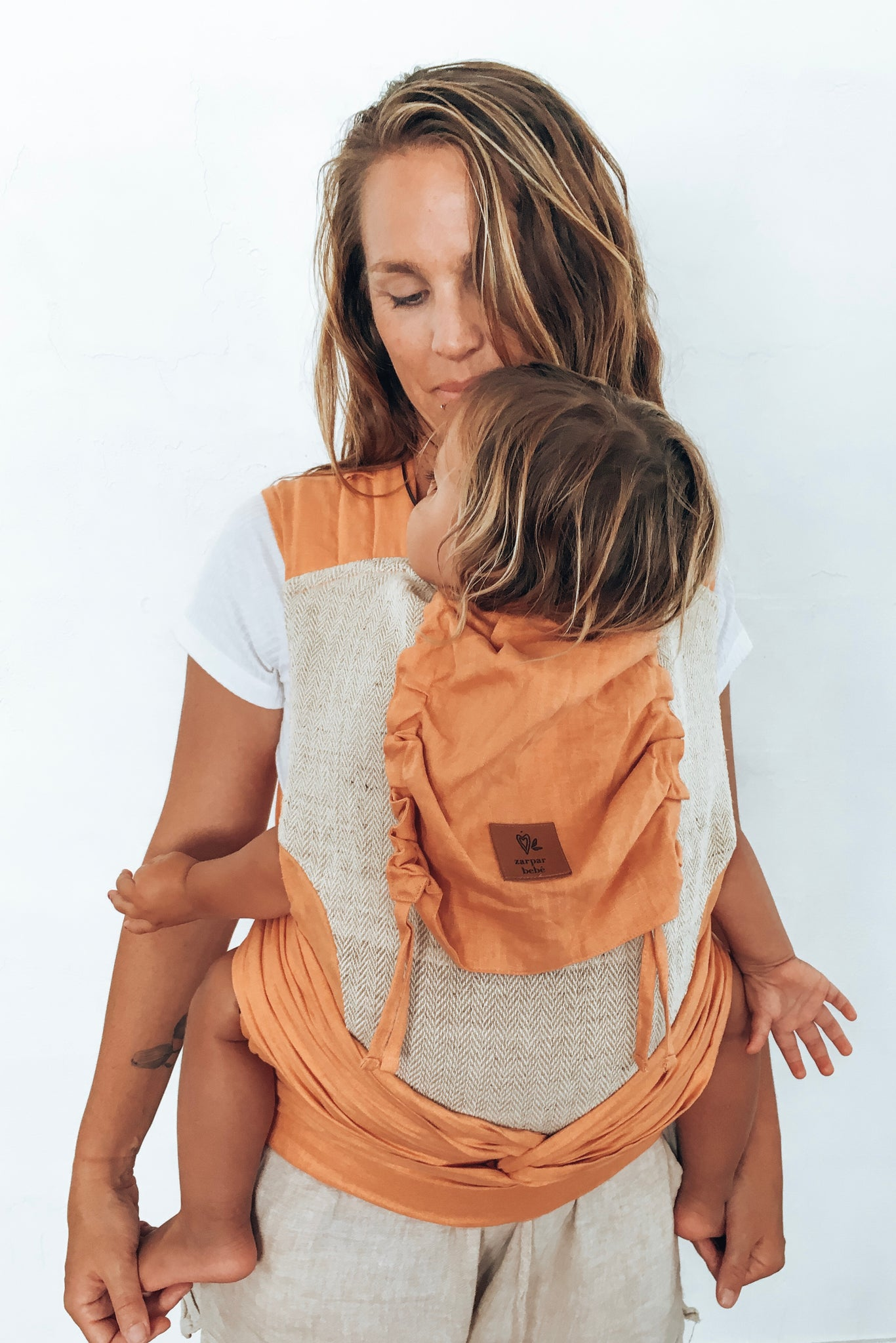 Orange Blossom Wrap Baby Carrier