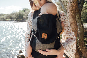 Black Ink Snap Baby Carrier