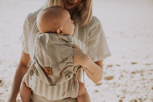 Natural Stripe Snap Baby Carrier