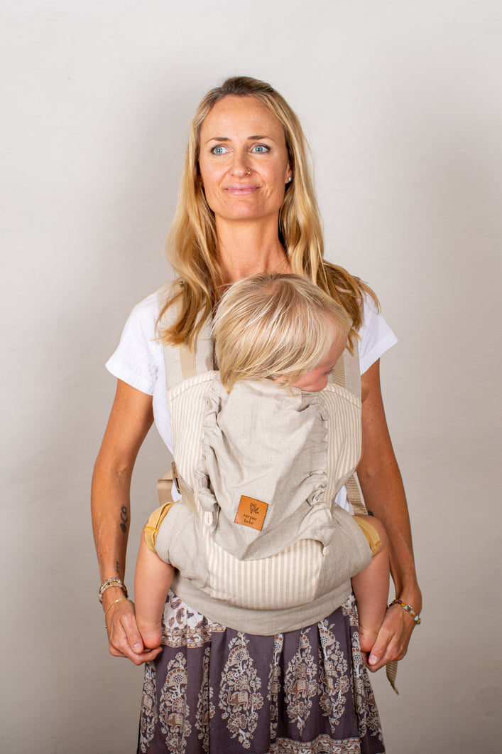 Linen Snap Baby Carrier - Refined Stripe