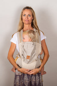 Refined Stripe Snap Baby Carrier