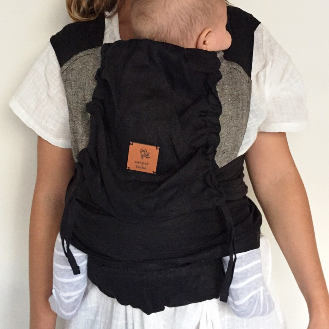 Black Ink Wrap Baby Carrier