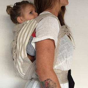 Natural Stripe Wrap Baby Carrier