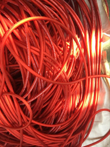 Red Oversized Tinned 1/0 AWG OFC 50ft