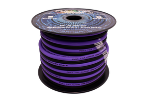 Purple & Black 8 Gauge OFC Speaker Wire 50ft Spool
