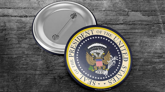 Button featuring Donnie's Presidential Seal