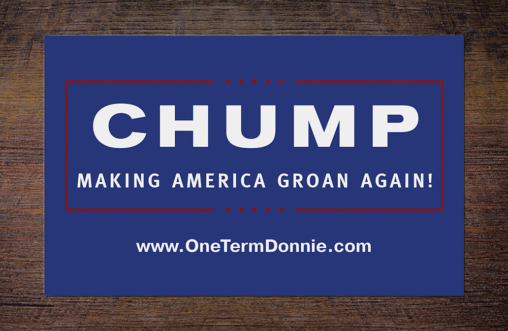 CHUMP sticker