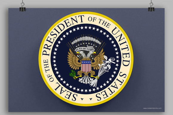 Donnie's Presidential Seal poster (18x24)
