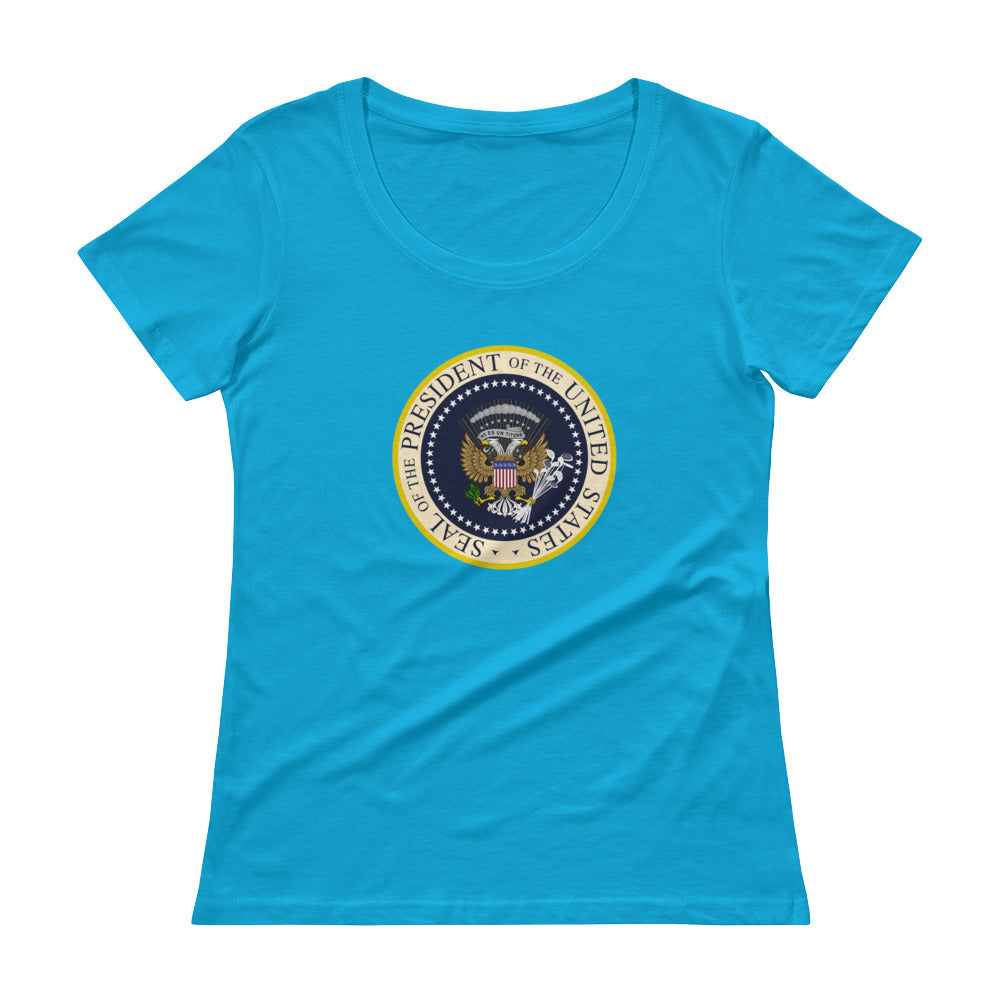 'Donnie's Presidential Seal' Ladies' Scoopneck T-Shirt