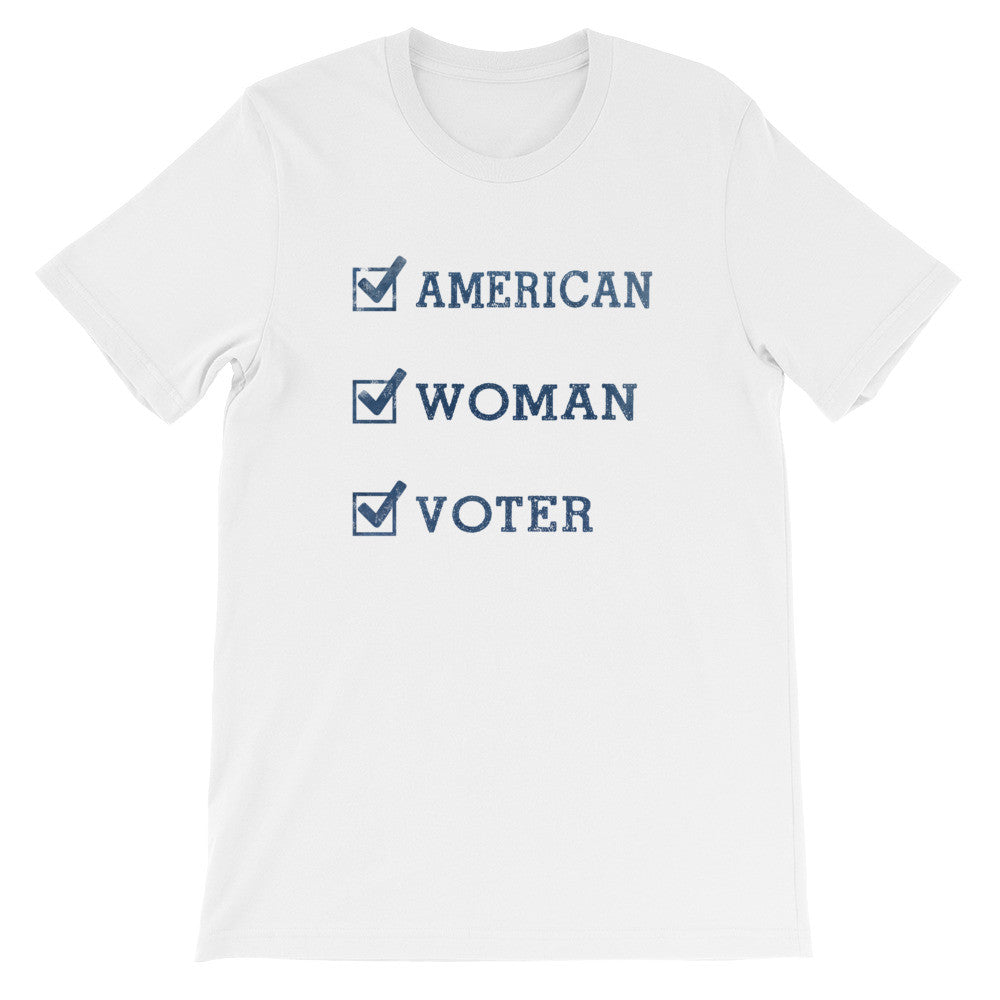 American-Woman-Voter (light) t-shirt